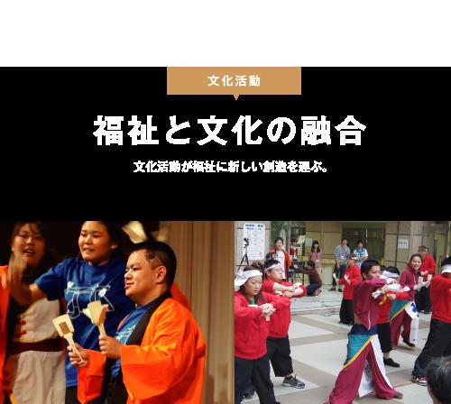 福祉と文化の融合文化活動が福祉に新しい創造を運ぶ。